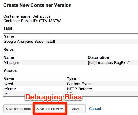 Creating New GTM Container