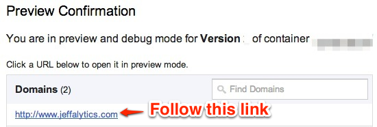 Google Tag Manager Debug Mode
