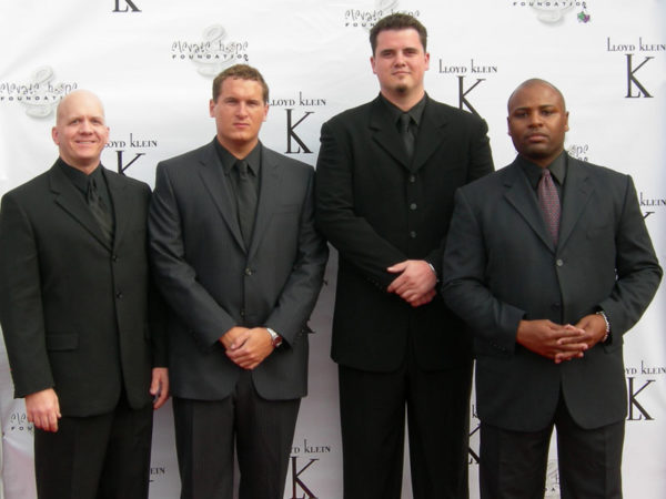 My first and only event as a Bodyguard - February 2006 (I am second on the left)
