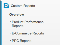 Google Analytics Custom Reports Categories