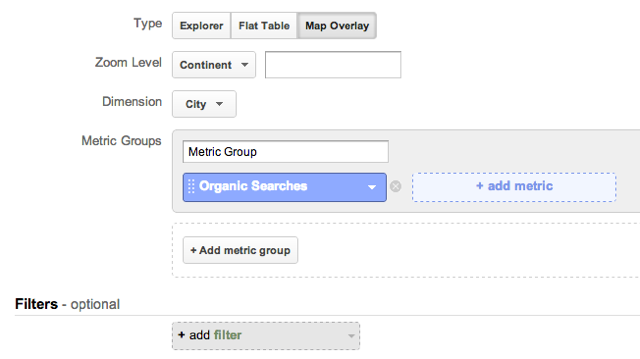 Google Analytics Map Overlay Custom Report