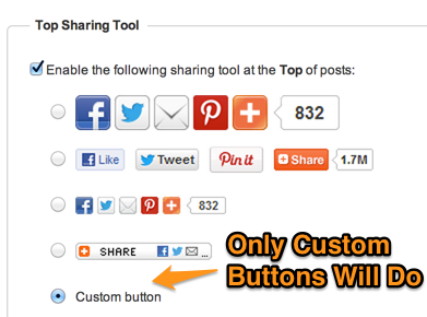 Custom Buttons AddThis Plugin