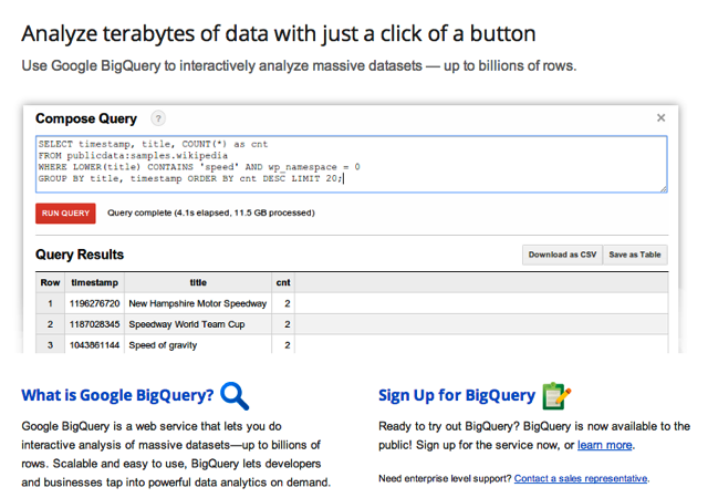 Google BigQuery Coming to Google Analytics