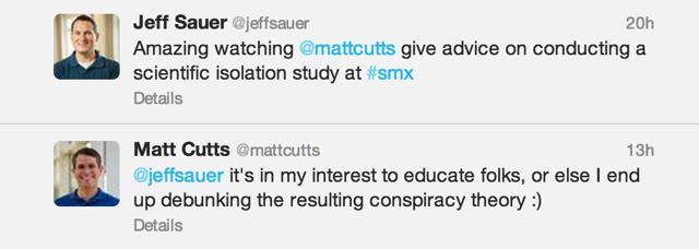 Matt Cutts Interaction