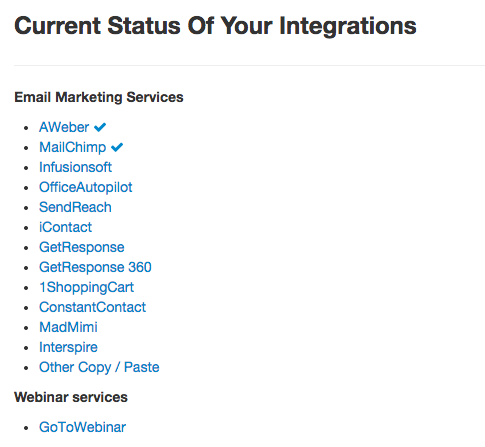 LeadPages Integrations