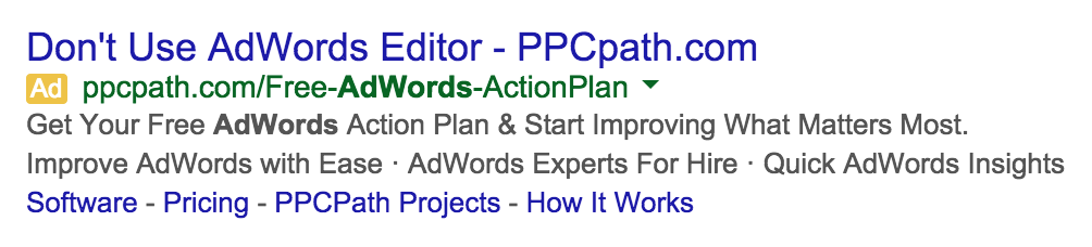 Don t use AdWords Editor Ad