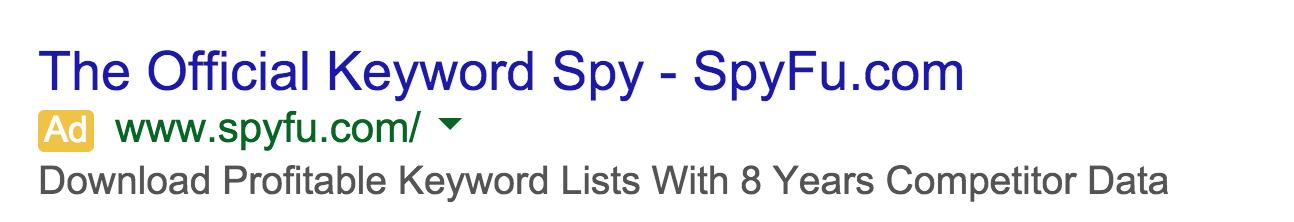 SpyFu Ads on SEMRush