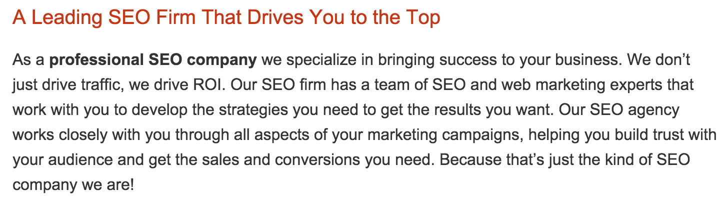 SEO Agency Page 5