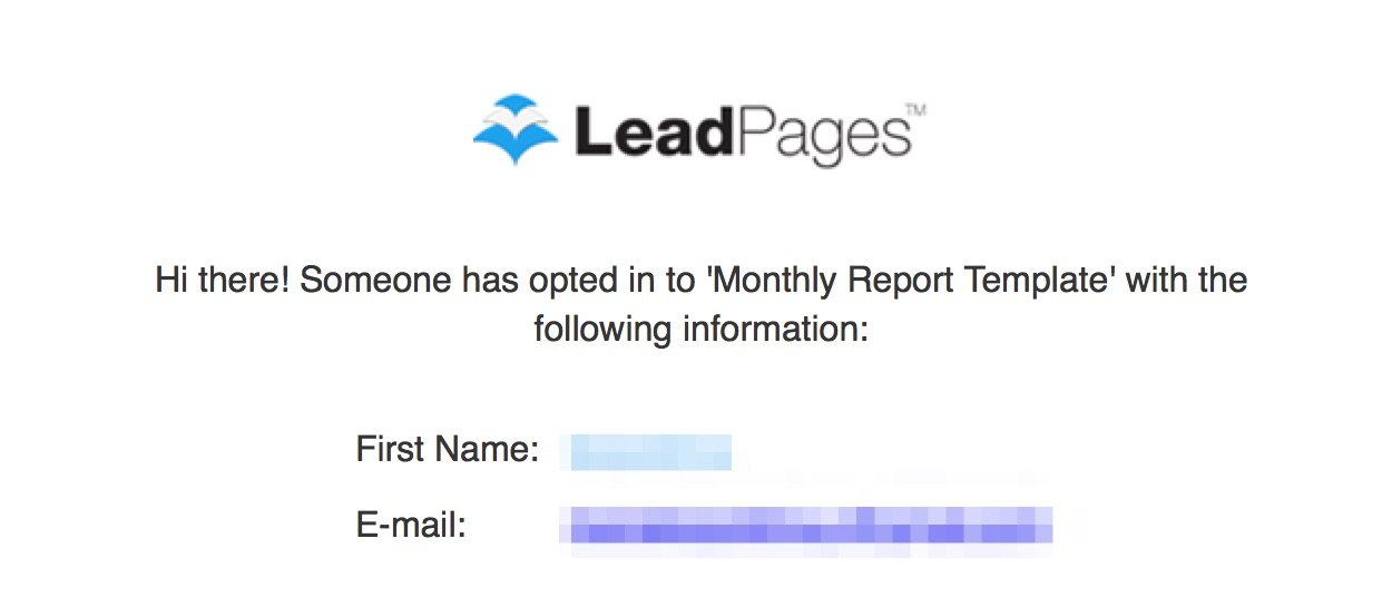 Email Notifications LeadPages