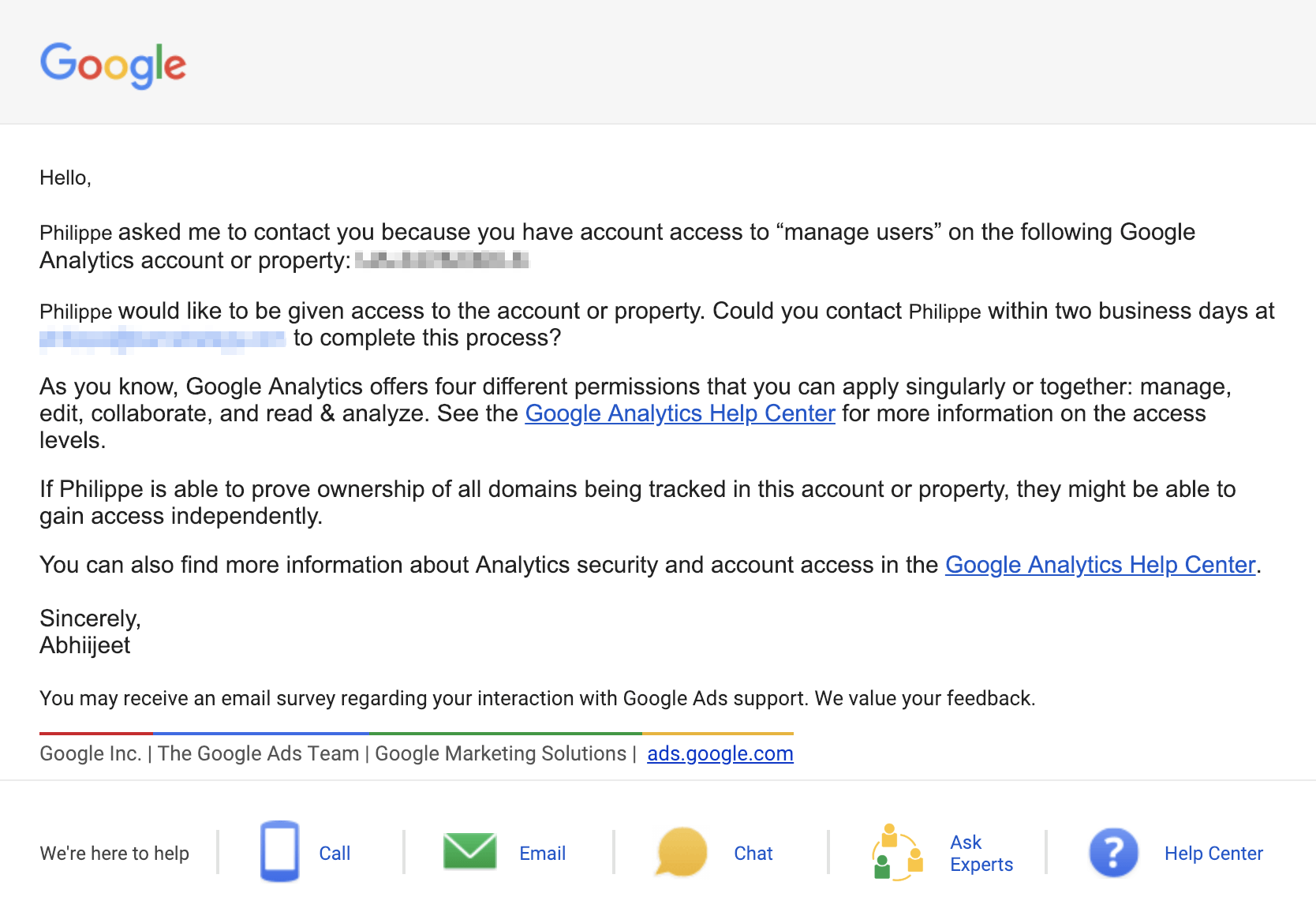 Google Analytics Account Recovery