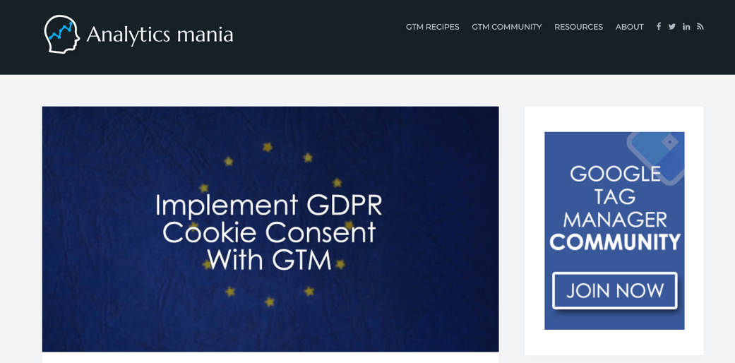 Cookie Consent Analytics Mania