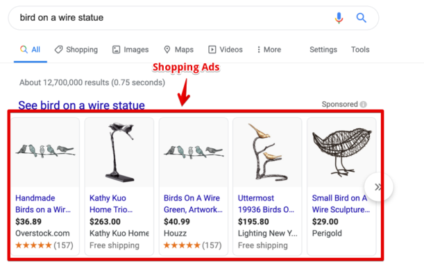 Shopping Ads Examples