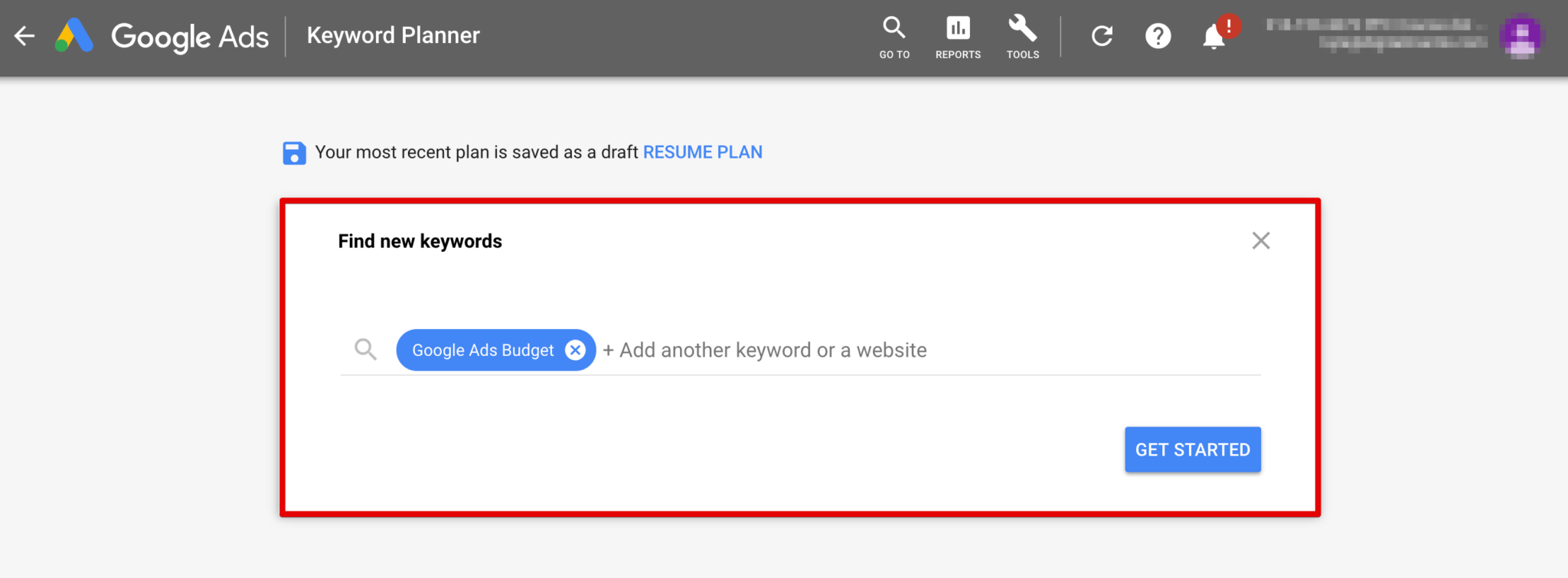 Using the Google Keyword Planner to calculate your AdWords Budget