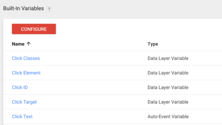 Google Tag Manager Tutorial - built-in variables