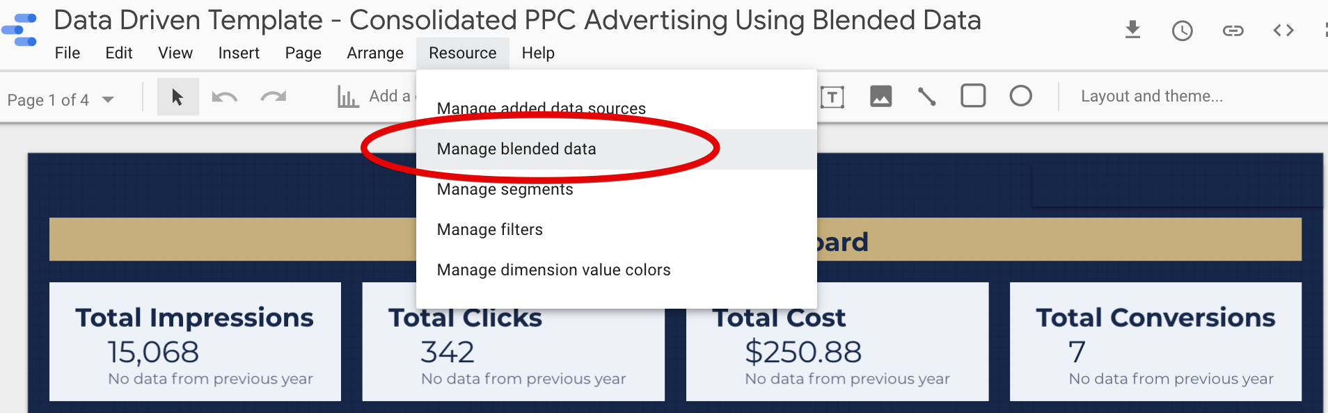 Data Blending Google Data Studio