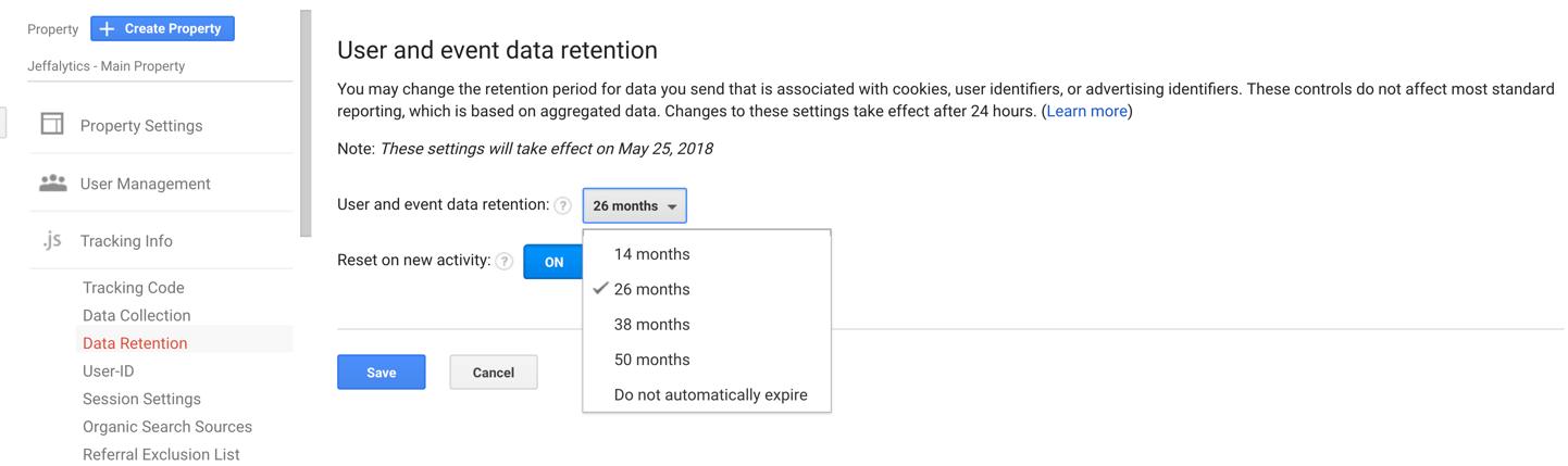 Data retention controls