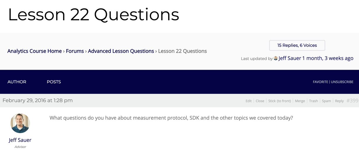 course forums