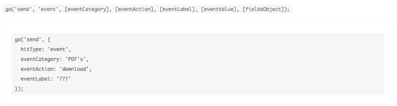 Google Tag Manager event code example