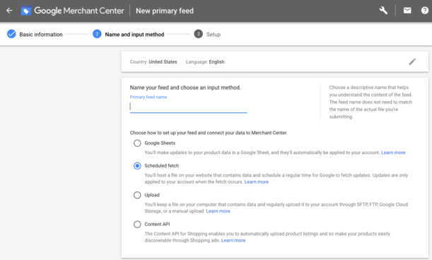 Link your product feed to Google Merchant Center