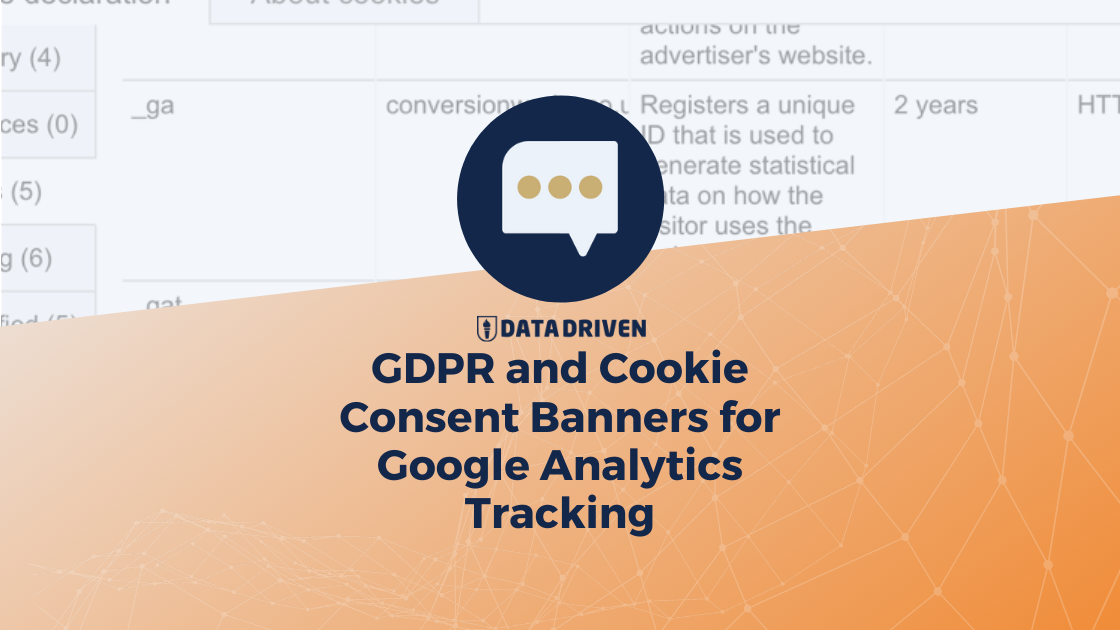Gdpr And Cookie Consent Banners For Google Analytics Tracking Data Driven U