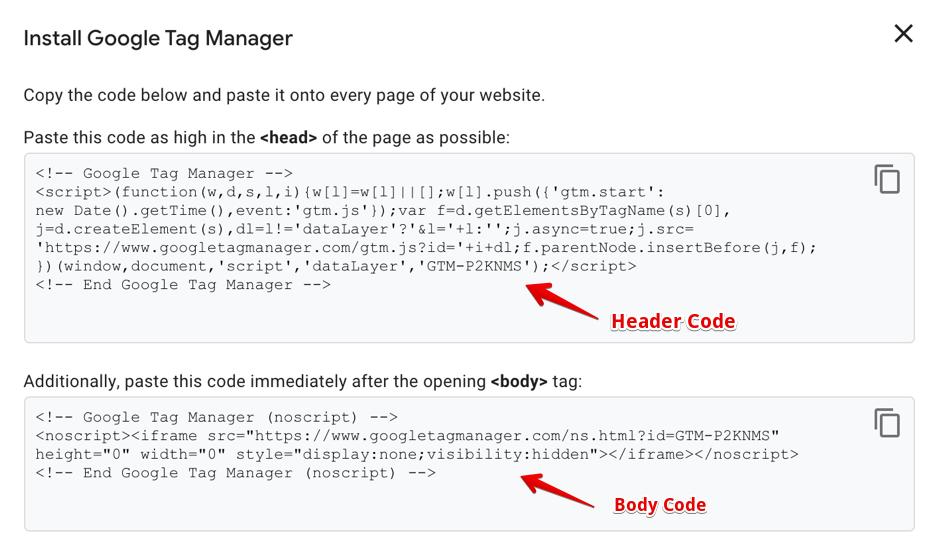 GTM Code