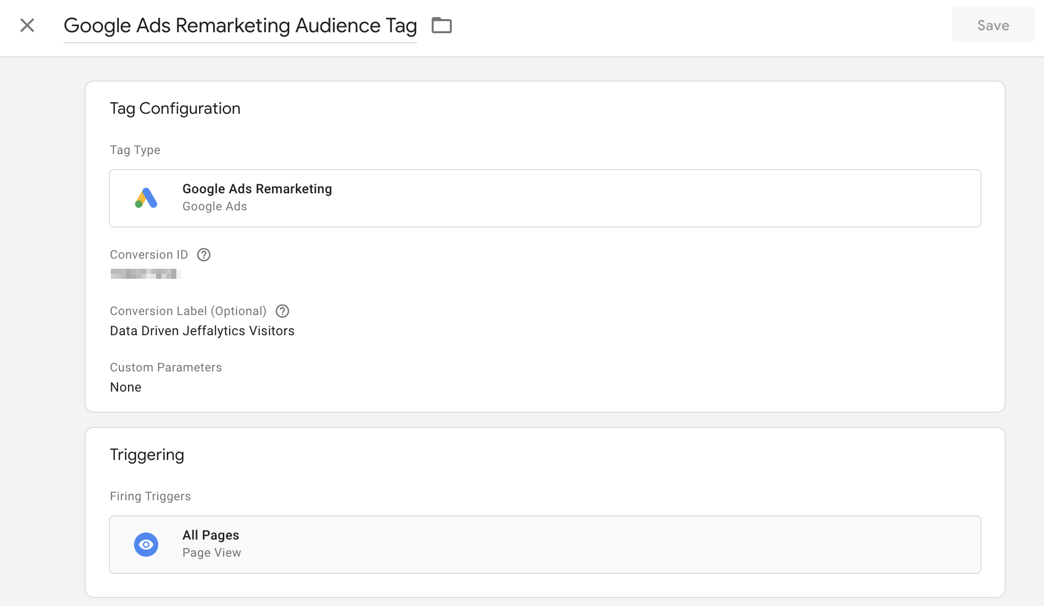 Google Ads Remarketing in Google Tag Manager