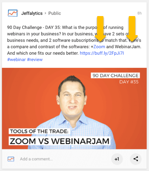 Google+ Social tagging