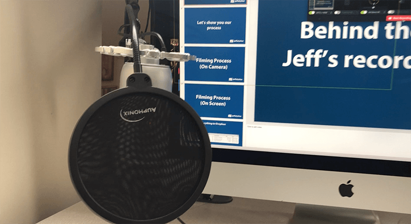 Jeff's recording setup and microphone