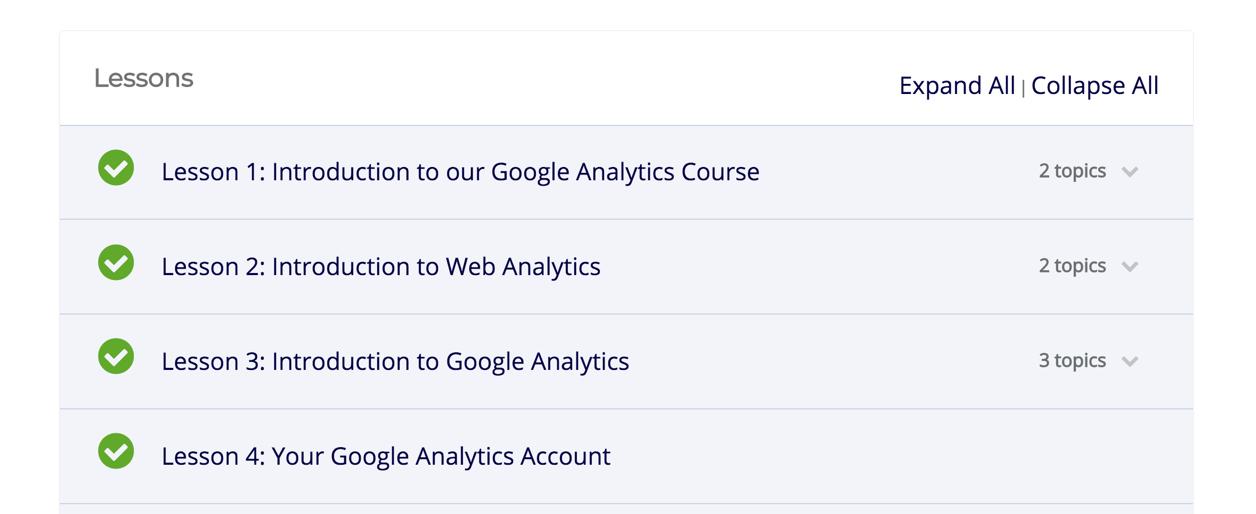 custom online course platform- student inteface