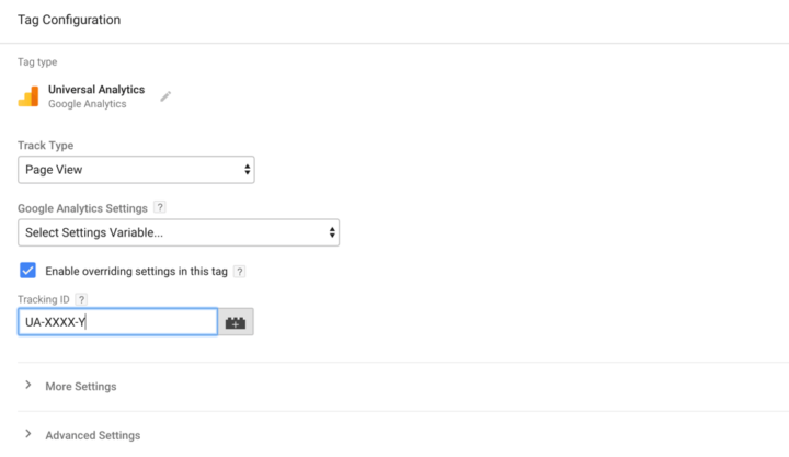 Google tag manager templates