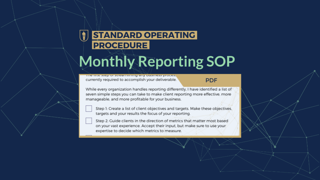 Business Growth Strategies - Monthly Reporting SOP