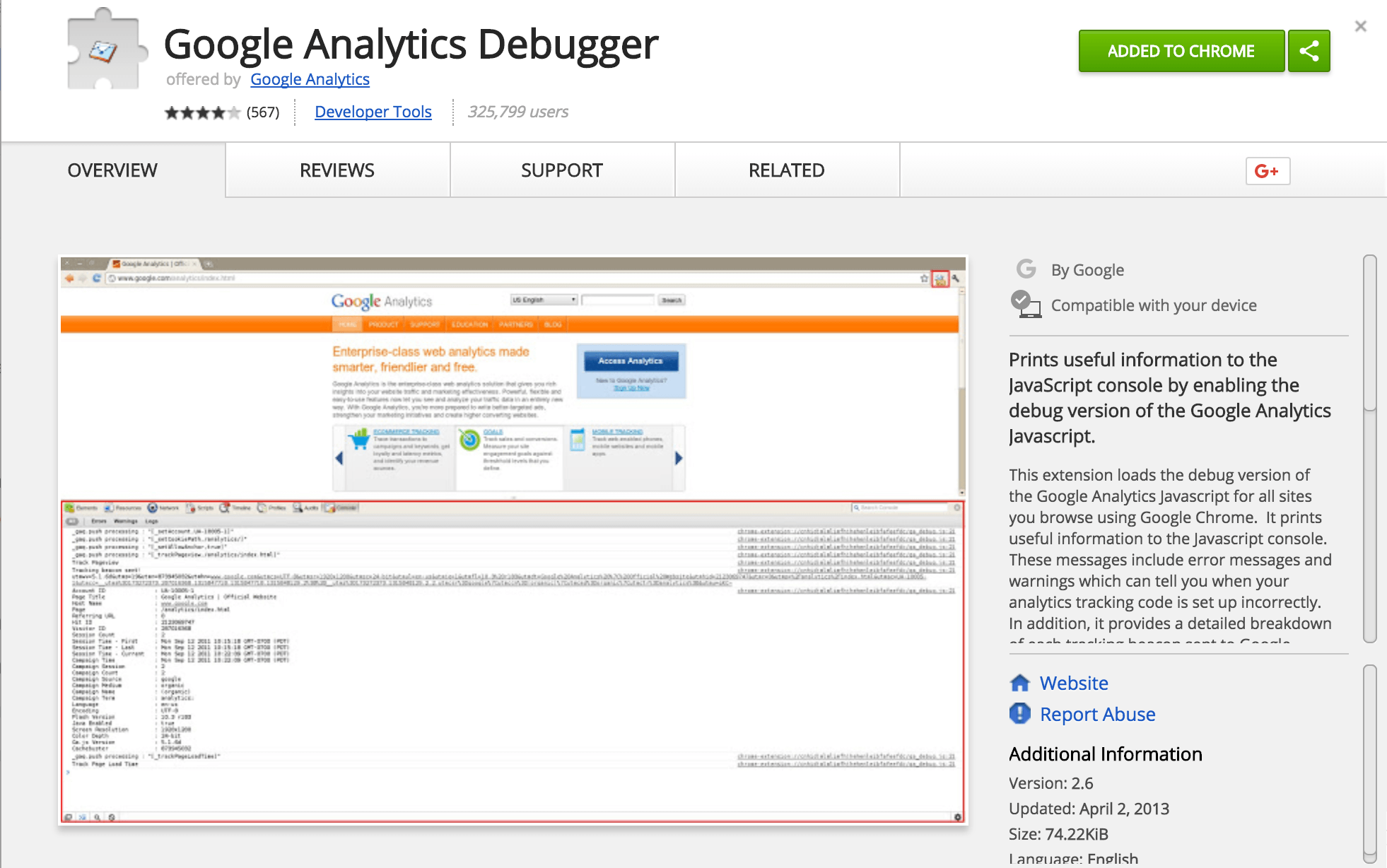 Google Analytics Debugger