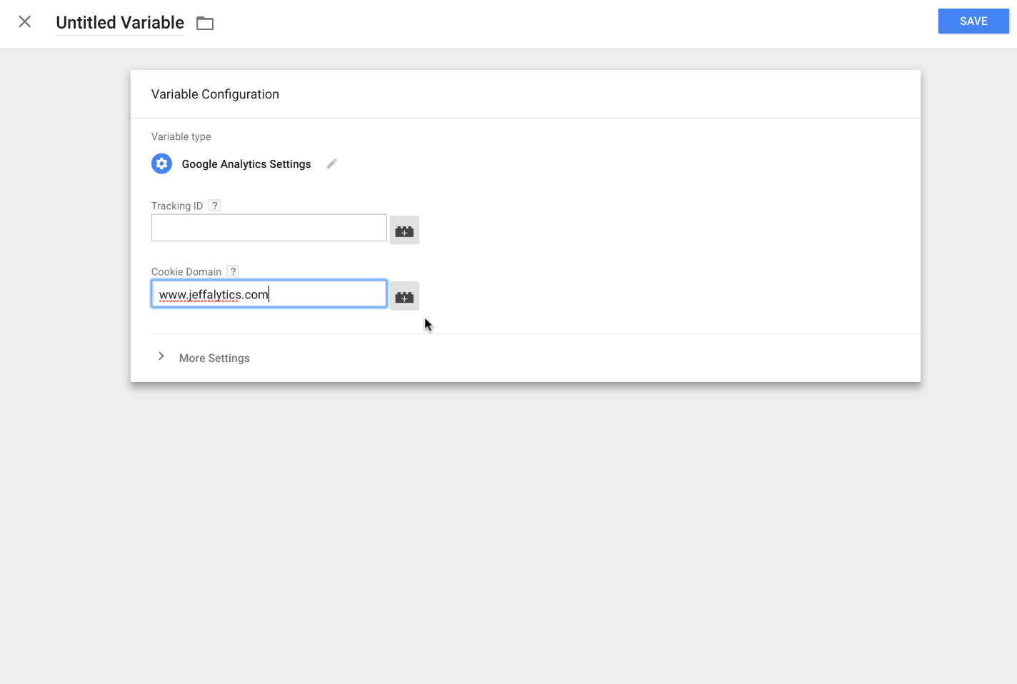 changing cookie domain setting in google tag manager