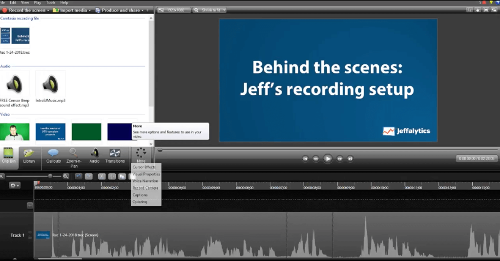 Video Editing in Camtasia