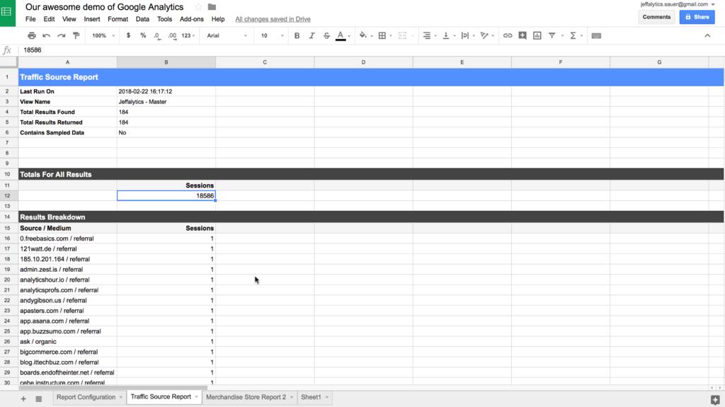 google analytics api data sorting problem