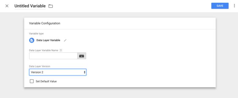 Google Tag Manager -data layer variable