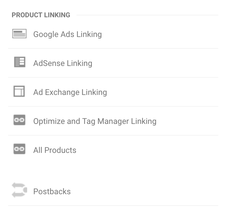 Product linking in Google Analytics