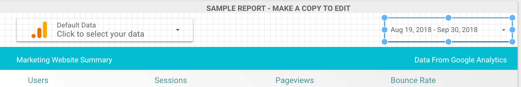 Google Data Studio date settings