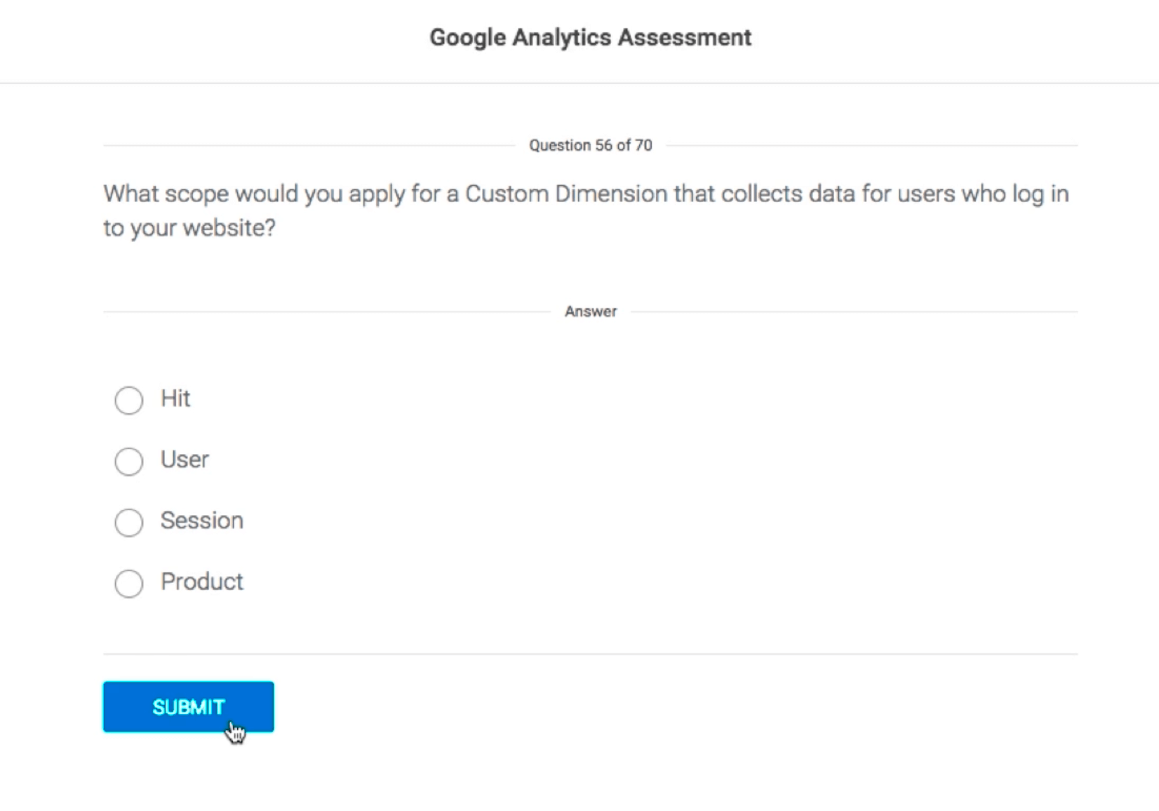 Google Analytics Certification test questions