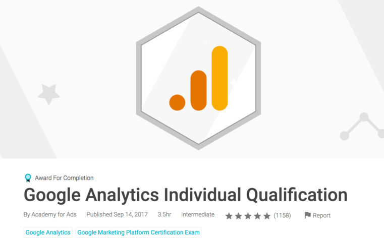Google Analytics Individual Qualification Assessment