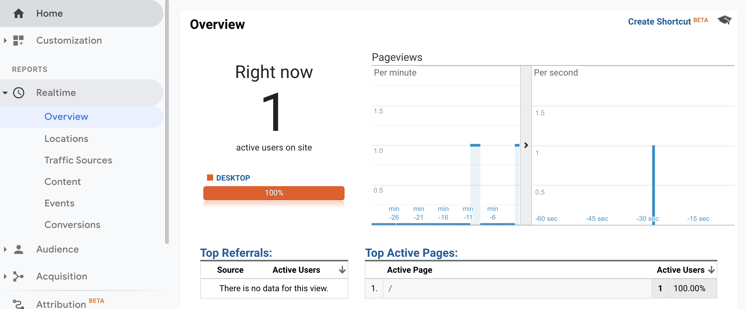 Verifying your GTM tags in Google Analytics Real Time Reports