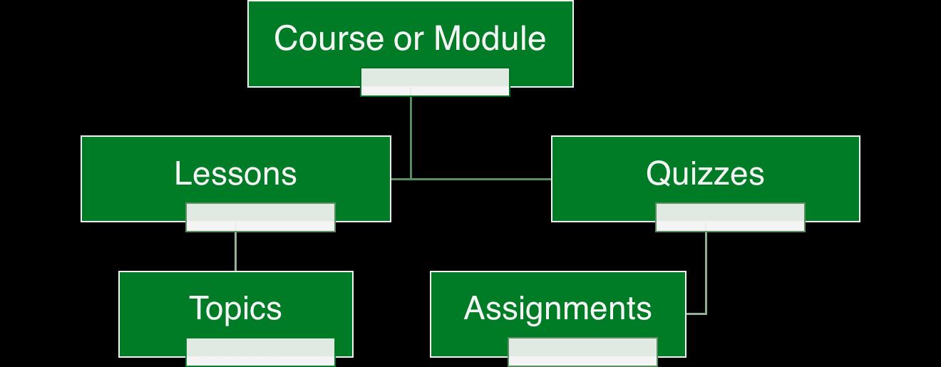 custom online course platform - course structure