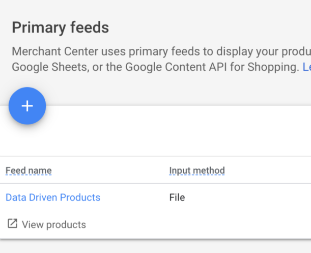 Verify your product feed