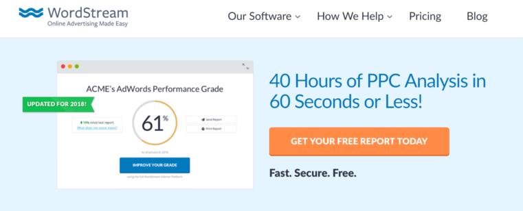 Wordstream ads account score
